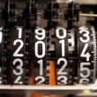 Stock Photo: Counter with the year 2014 in the meter