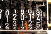 Counter with the year 2014 in the meter — Foto de Stock