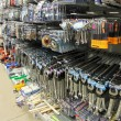 Tools in hardware store very provided — Stock Photo #33259873