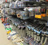 Tools in a hardware store very provided — Stock Photo