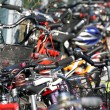 Stock Photo: Bicycles of boys in school park 1