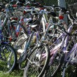 Stock Photo: Parking of bicycles by students in school