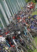 Bicycles heaped up during a gathering of city bikes 2 — Stock Photo