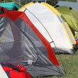 Stockfoto: Tents where they sleep kids and people sheltered from weathe