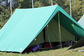 Tent of boy scout camp — Stock Photo
