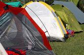 Tents where they sleep people — Stock Photo