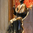 Statue of St. Peter in the Basilica in Vatican City — Stock Photo #33433689