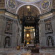 Stock Photo: Altar in the giant Basilica di San Pietro in Vaticano
