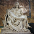 Marble statue called the Pieta by Michelangelo — Stock Photo