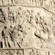 Scenes of war and many Romans warriors  sculpted in Trajan's col — Stock Photo