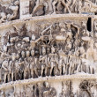 Beautiful high-reliefs sculpted in Trajan's column in Rome — Stock Photo