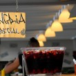 Trendy bar with fresh sangria on offer — Stock Photo