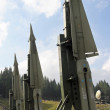 Stock Photo: Military intercontinental missiles ready for launch from lau