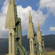 Green military intercontinental missiles ready for launch — Stock Photo