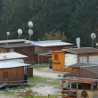Village of caravans  equipped for earthquake victims — Stock Photo
