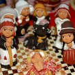 Peruvian ethnic Nativity set hand made with terracotta and clay — Stock Photo