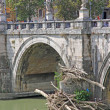 Tiber River and Saint Angel Bridge — Stock Photo