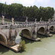 Stock Photo: Tiber River and Saint Angel Bridge in Rome