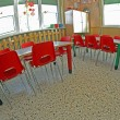 Small red chairs of a kindergarten — Stock Photo