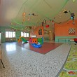 Nursery playroom with many ornaments and decorations and many ga — Stock Photo