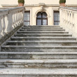 Grand staircase that rises upwards of a villa — Stock Photo