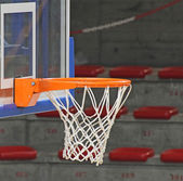 Basketball hoop inside the Sports Hall — Stock Photo