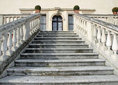 Stone steps leading to the entrance of the prestigious Italian V — Stock Photo