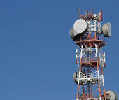 Repeaters antennas for mobile communication and television signa — Stock Photo