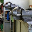 Stock Photo: Workbench inside a mechanical workshop