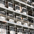 Scaffold building for the construction of buildings in the const — Стоковая фотография