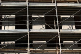 Scaffold building for the construction of buildings — Stock Photo