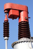 Device for high-voltage electric transformer to vary the output — Foto Stock