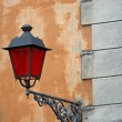 Stock Photo: Lantern with Christmas red glass for street furniture of great h