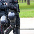Stock Photo: Reinforced protective helmet for police officers during rebel