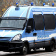 Armored police van transporting money — Stock Photo