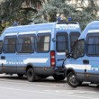 Armored vans of the Italian police during the sporting event — Stock Photo