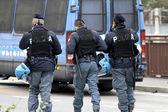 Roadblock with Italian policemen — Stock Photo