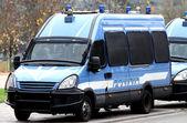 Armored police van transporting money — Stock Photo