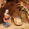 Stock Photo: Classic Nativity with Manger where there are also ox and the