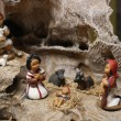 Nativity scene with Jesus, Joseph and Mary in a manger 1 — Stock Photo