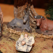 Classic Nativity scene  in a manger on Christmas 5 — Stock Photo