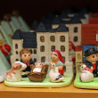 Crib from around the world in religious goods store at Christma — Stock Photo