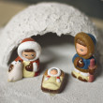 Crib in Eskimo of North Pole version 2 — Stock Photo
