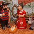 Manger with the Holy Family in Mexican version 3 — Stock Photo