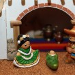 Manger with the Holy Family in Mexican version 2 — Stock Photo