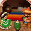 Stock Photo: MexicNativity with Joseph with moustache