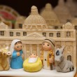 Nativity with St. Peter's basilica in the Vatican — Stock Photo