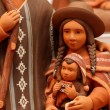 Mary and baby Jesus in bolivia terracotta handmade — Stok fotoğraf
