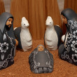 Stock Photo: Nativity scene with characters dressed in black