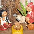 Stock Photo: Holy Family in South Americversion with cloak 1